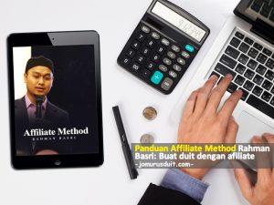 panduan affiliate method rahman basri buat duit dengan affiliate