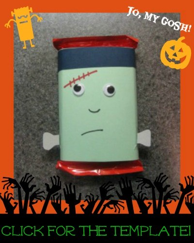Frankenstein Candy Bar Wrapper (Free Printable!)