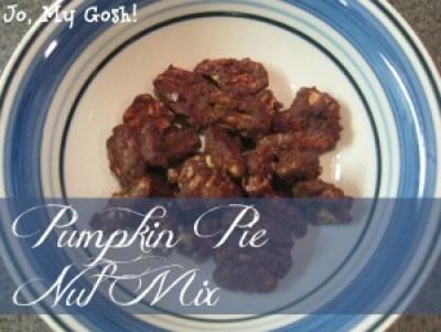 Make this easy pumpkin pie nut mix with just a few ingredients and steps.