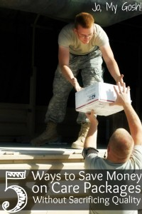 Use these tips to save on care packages so you can send more! Yay!