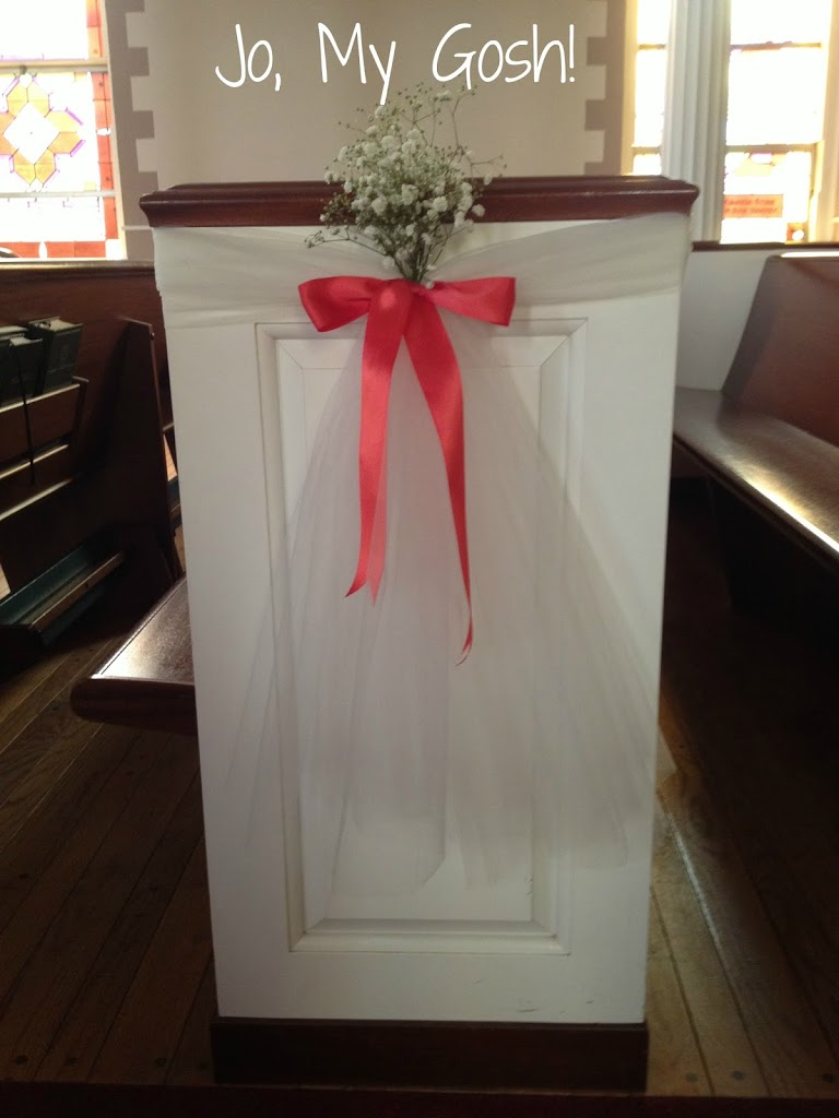 DIY Wedding Ceremony Decorations  Jo My Gosh