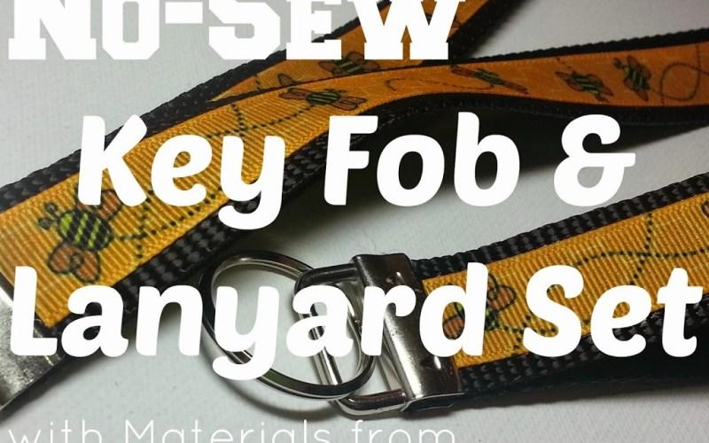 No-Sew Key Fob and Lanyard Set DIY
