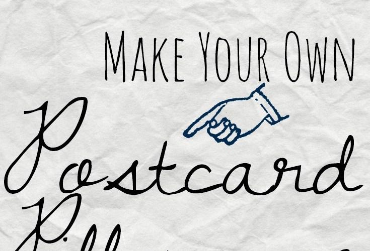 Make a Postcard Pillowcase