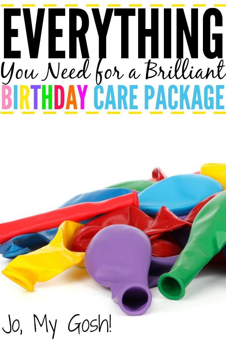 Everything You Need for a Brilliant Birthday Care Package