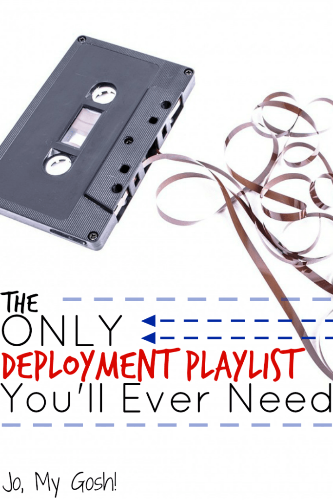 Music suggestions from milsos and milspouses who have been through deployment; gotta keep this list for later!