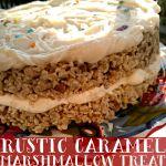 Rustic Caramel Marshmallow Treat Layer Cake