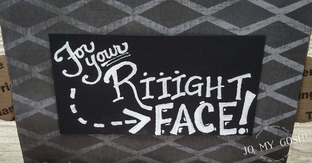 Cute facial care care package for dudes! Includes how to easily get a chalkboard effect for care package decorations.