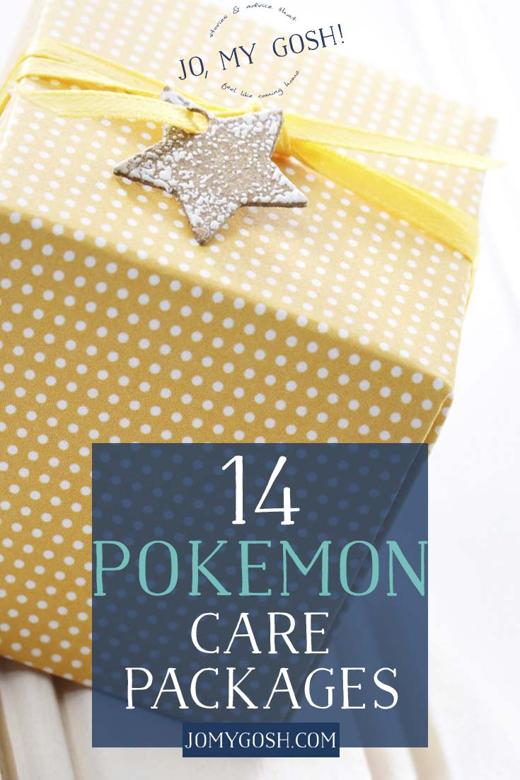 Pokemon care package inspiration! Perfect for deployment, missionaries, and college students.