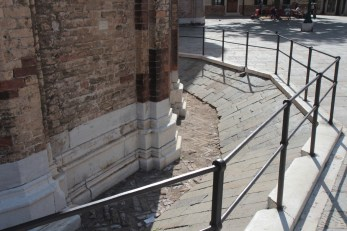 A metre of subsidence, Venice.