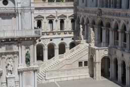 The Doge Palace interior courtyard, Venice.