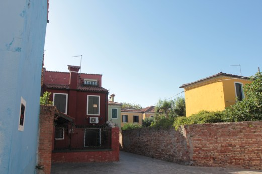 Houses in Burano, Venice.