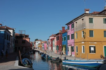 The famous coloured houses of Burano, Venice.