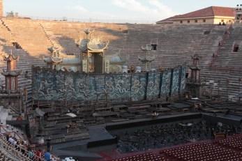 The Zeffirelli set of Puccini's Turandot. Verona Arena, Italy.