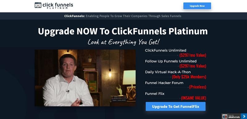clickfunnels platinum upgrade now