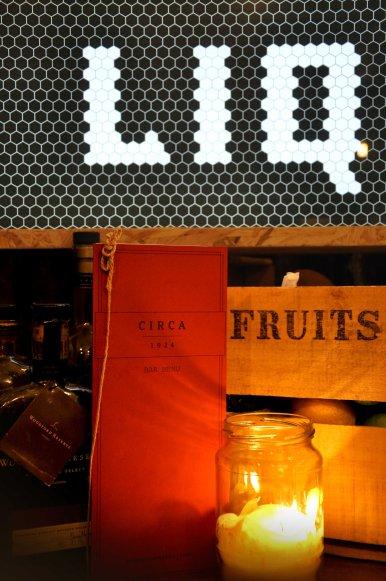 Liquor - custom chipboard light box