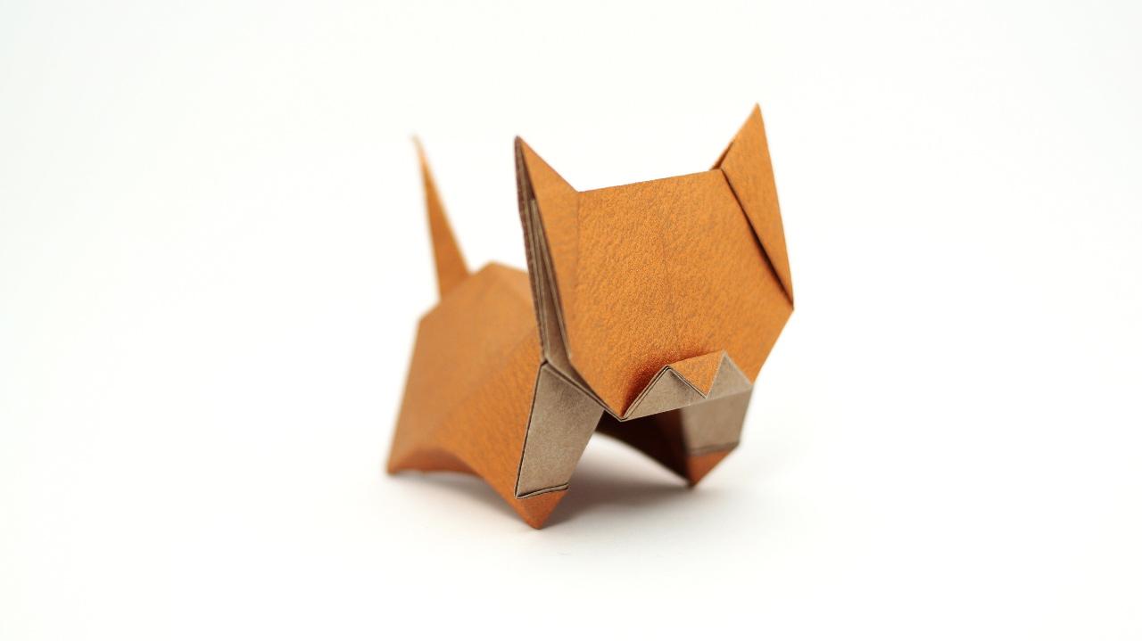 Origami Cat Diagram Not Lossing Wiring Complex Dragon Instructions How To Make Neko Diagrams And Video Jo Nakashima Rh Jonakashima Com Br David Brill