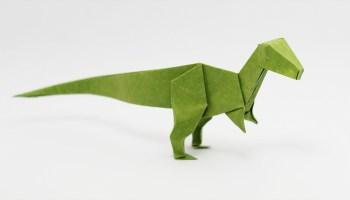 Cara membuat origami Dinosaurus T-rex - YouTube | 200x350