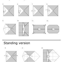 Origami Wolf Instructions Diagram 2003 Honda Crv Radio Wiring Youtube Play Button Jo Nakashima