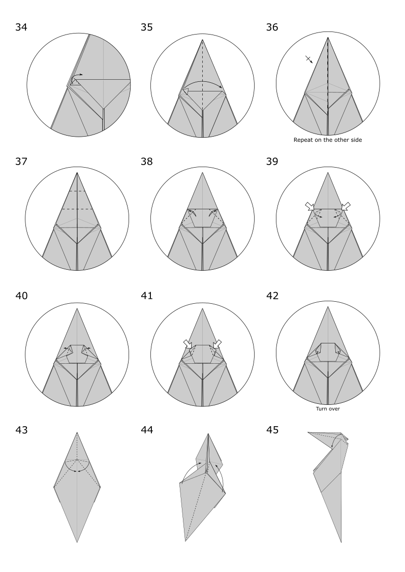 Origami Squirrel Jo Nakashima Cat Diagram Diagrams If You Find Some Step Difficult Can More Detailed Instructions In The Video Tutorial