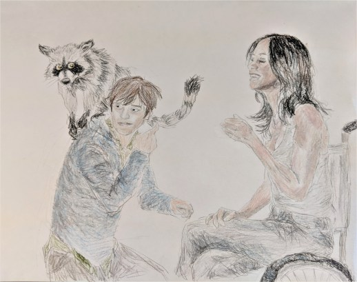 Susannah, Jake, and Oy from the Dark Tower