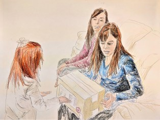 Improving realism in family sketches - my wife, her sister, our oldest