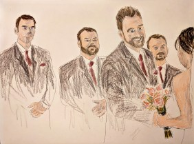 Wedding sketch somehow reminds me of the Ghostbusters