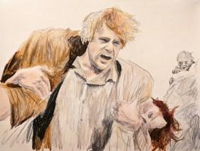Sam Saves Lazy Frodo, by Jon