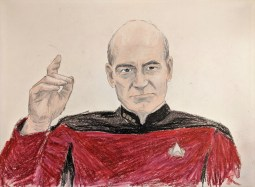 Captain Picard, from Star Trek the Next Generation