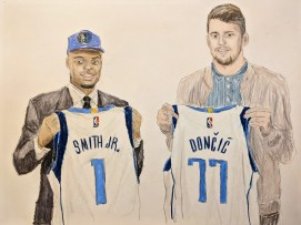 The Dallas Mavericks' bright future; point guard Dennis Smith Jr and multi-position wing Luka Doncic