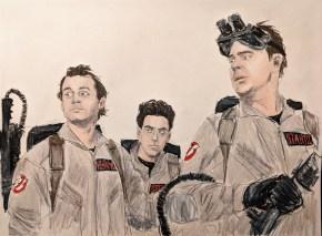 Peter Venkman, Ego Spengler, and Ray Stanz. Just pretend Winston Zeddmore is off-camera...he should have been here too.