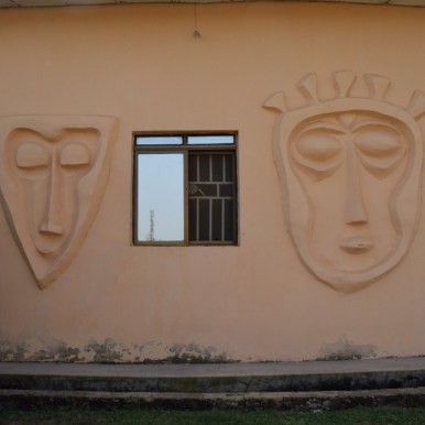 Mask on Building
