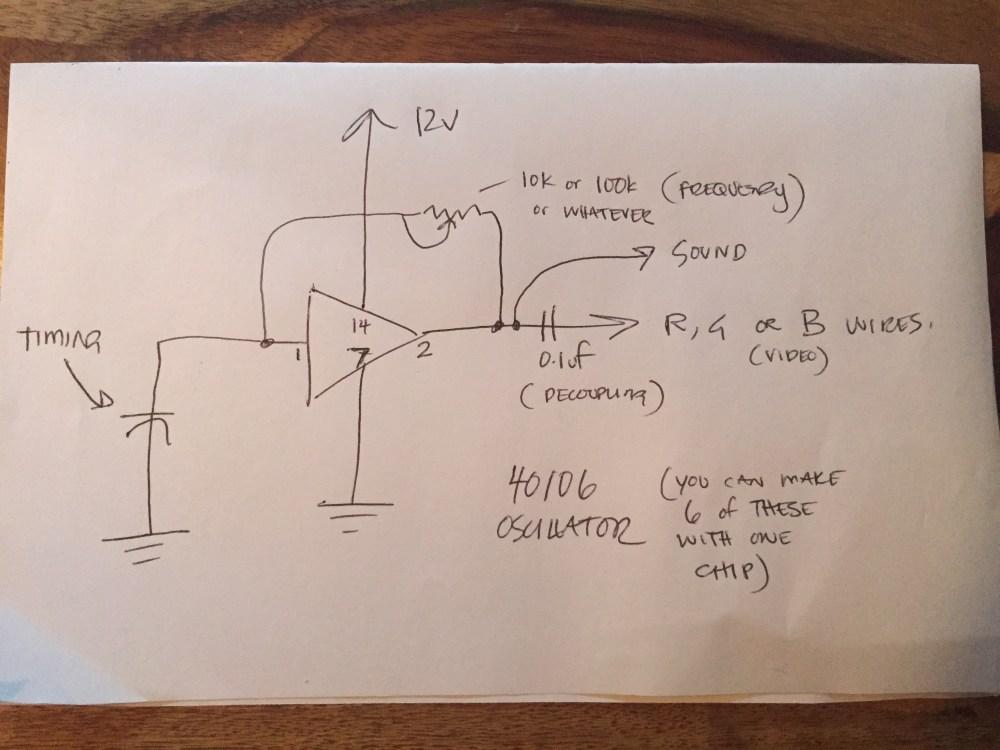 medium resolution of composite to vga schematic
