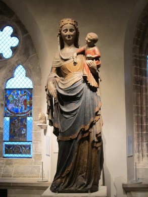 A statue of Virgin and Child in the Cloisters in New York on Nov. 28, 2015.