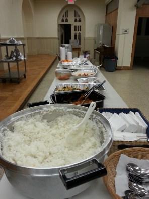 The Korean buffet was delicious.
