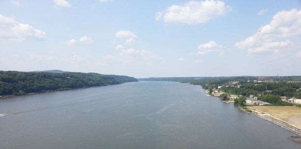 The Hudson River from the north side of Walkway over the Hudson in Poughkeepsie, N.Y., on Sunday, June 26, 2016.