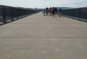 The sun baked the Walkway over the Hudson in Poughkeepsie, N.Y., on Sunday, June 26, 2016.