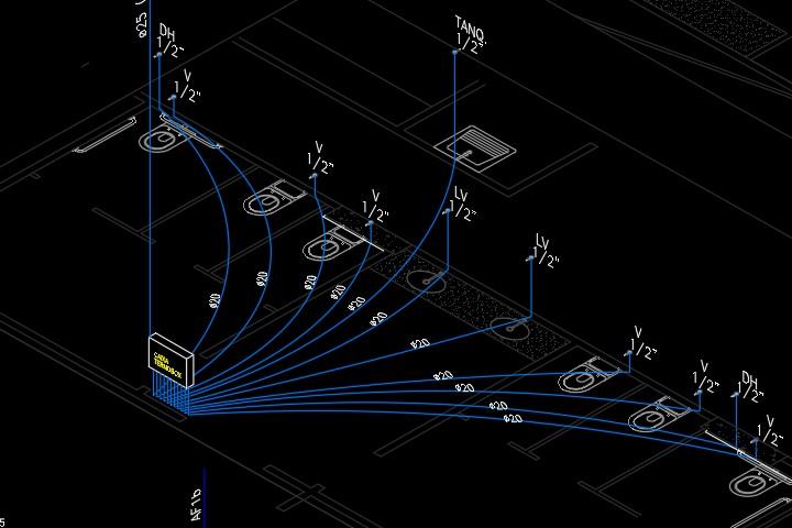 Detalhe do sistema PEX