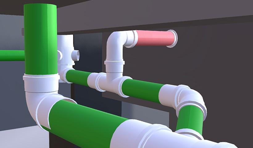 Modelagem de tubulações de esgoto e ventilação