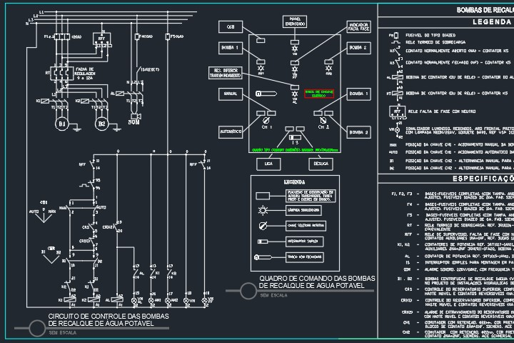 circuito de comando de boia