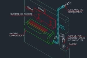 Projeto de climatização: Detalhes em DWG
