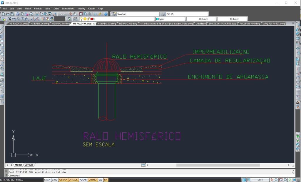 Detalhamento desenvolvido fora do AutoCAD