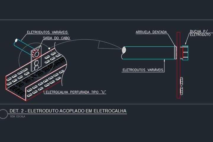 Detalhe-eletrocalha