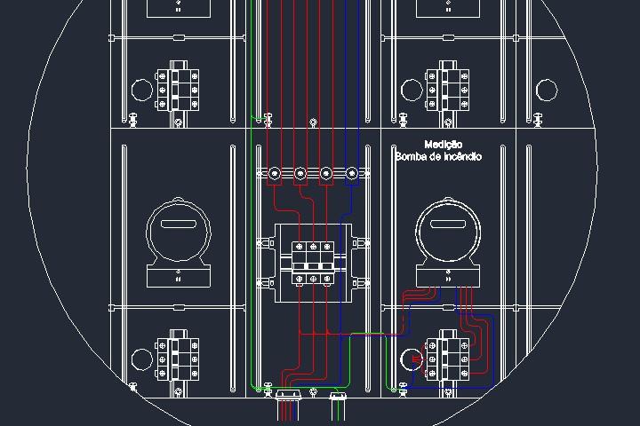 Medição elétrica de bomba de incêndio