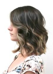brunette ombre short hair