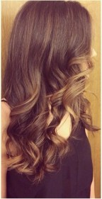 subtle brunette ombre hair color idea
