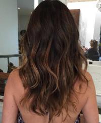 balayage brunette highlights