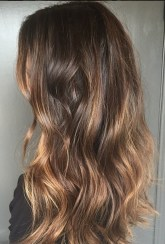 beachy brunette highlights