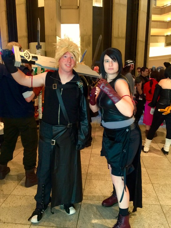 Tifa and Cloud Advent Children cosplay