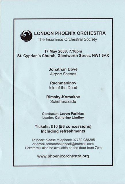 Phoenix Orchestra flyer