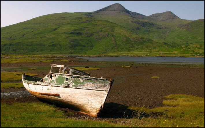 Old boat, Pennyghael